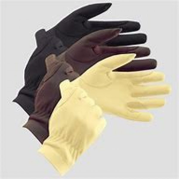 EQUETECH JUNIOR LEATHER SHOW GLOVES